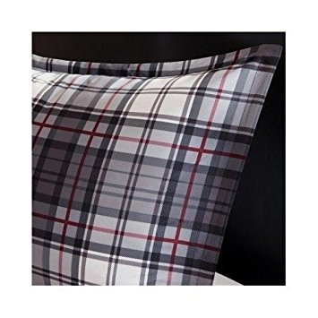 Comforter Bed Set Black White Red Plaid Print Teen Bedding Bedspread Pillow Update Home Decor (Twin/twin Xl) by Mi-Zone (Image #3)