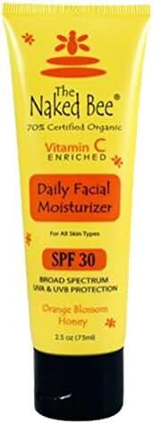 THE Naked BEE - 2.5 Oz Vitamin C Facial Moisturizer SPF 30 -Orange Blossom