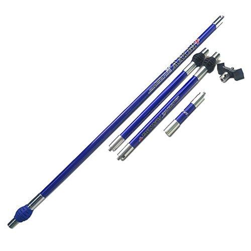 MILAEM Detachable Bow Stabilizer Rod Carbon Bow Stabilizer Balance Extend Bar Set for Recurve Compound Bow (Blue)