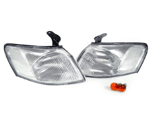 DEPO 1997-1999 Toyota Camry JDM Style Clear Front Corner Signal Lights (1997 Clear Corner)