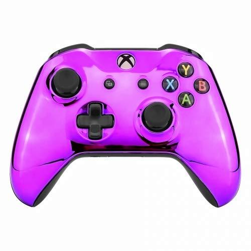 Chrome Purple Xbox One S UN-MODDED Custom Controller Unique Design (with 3.5 Jack) (Xbox Modded Controller Purple)