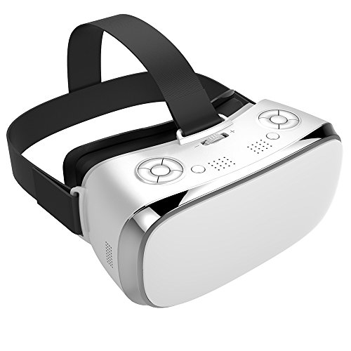 RINE COOOO All In One 3D VR Glasses, WiFi 2.4G Bluetooth MOTION Virtual Reality Glasses Box for PC Movie and Games HDMI 1080P 360 Viewing Immersive Video Headset Supports TF Card