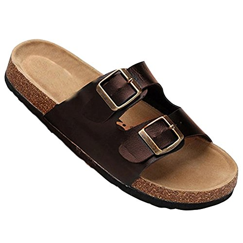 Pantofole Uomo Adulto da ZongSen da Sandali Estate Marrone Donna Unisex Sughero Ciabatte wTWqR0vA