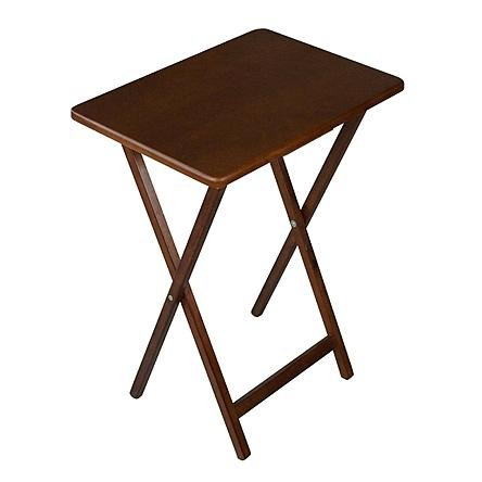 Superieur Folding Wooden Tv Tray Table, Dark Wood Finish, Plus Folds Very Easy Which  Is