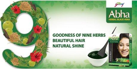 Godrej Abha Herbal Black Henna younger look for all unisex(10g X 5)