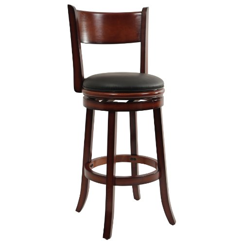 - Boraam 48129 Palmetto Bar Height Swivel Stool, 29-Inch, Brandy