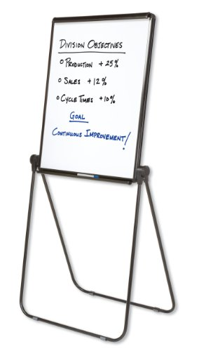 Quartet Easel, Whiteboard / Flip Chart, 27 x 34 Inches, Reversible, Ultima, Black Frame (101EL) by Quartet