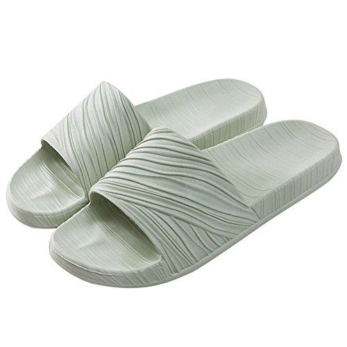 Buganda Men Women Soft House Slippers Non-Slip Light Weight Shower Slide Beach and Pool Slippers Indoor Shoes For Bathroom