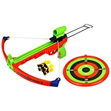 Velocity Toys Supreme Shooter Children's Kid's Toy Crossbow Dart Play Set w/ Practice Target, 5 Suction Darts w/ Holder, Mock Scope by Velocity Toys