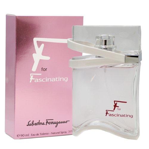 Salvatore Ferragamo F For Fascinating for Women, Eau De Toilette Spray 3-Ounce 159406