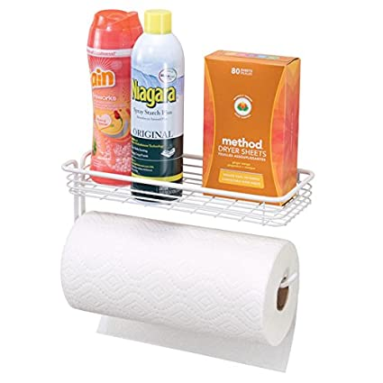 Amazoncom Mdesign Farmhouse Paper Towel Holder And Multi Purpose