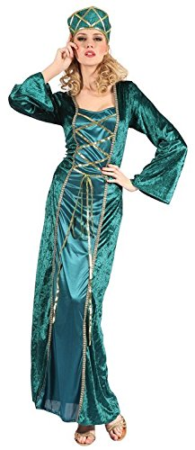 Female Robin Hood Costumes (Maid Marian Merry Men Robin Hood Style Female Fancy Dress Costume - One Size (US 8-12))