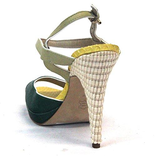 Juicy Couture Moda Tacones peep toe con correa de tobillo Reino Unido Tamaño 4para mujer