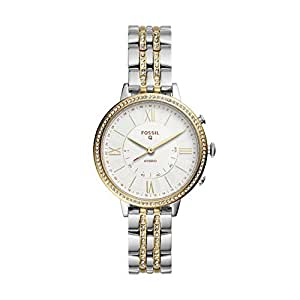 Fossil Women's Jacqueline Two Stainless Steel Hybrid Smartwatch, Color: Silver, Gold (Model: FTW5035)