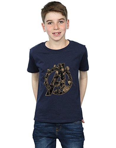 War logo Camiseta Boy de Infinity Avengers azul con marino zqxqwg84