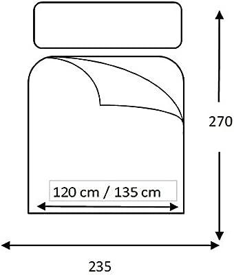 Lucena Cantos - Colcha Todo Uso Linea, Fibra 120 gr, (Gris, Cama 135, 235x270)