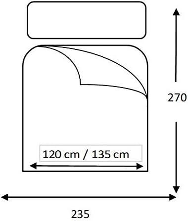 Beige, 180 x 270 Fibre 120 GR, Couvre-lit Arya Lucena Cantos