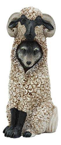 Ky & Co YK Dupers Collection Wolf in Sheep Clothing Statue 5.75