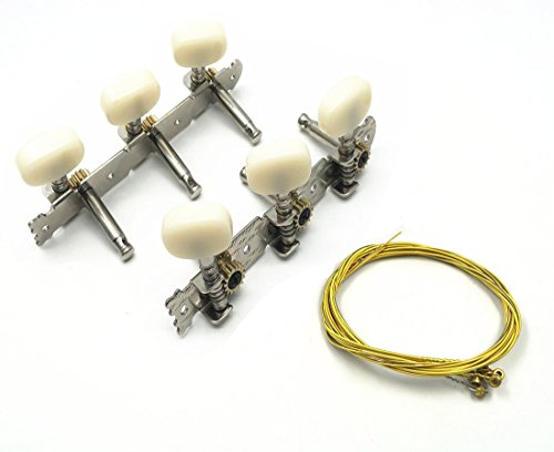 Classical 6 String Guitar Tuning Keys Machine Tuning Pegs Tuner with 6 Guitar Strings
