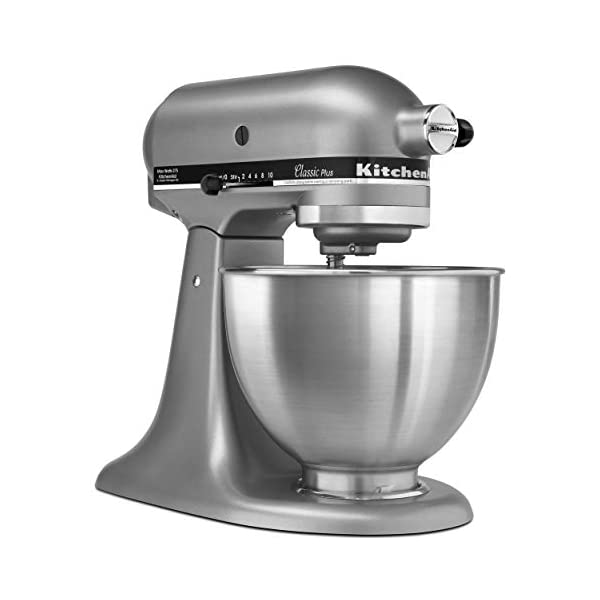 KitchenAid KSM75SL Classic Plus 4.5-Qt. Tilt-Head Stand Mixer, Silver 2