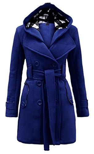 capuche Manteau Blue avec Royal Noroze femmes pour qPnawxOOC
