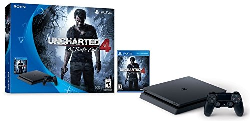 PlayStation 4 Slim 500GB Console - Uncharted 4 Bundle [Discontinued] (Best Price For Playstation 4 On Black Friday)
