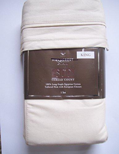 - Fieldcrest Luxury, 100% Long-Staple Egyptian Cotton Pillowcase Set, 800 Thread Count, Shell, KING