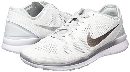 Nike Womens Free 5.0 Tr Fit 5 Scarpe Da Allenamento Prt Donna Bianco / Platino Puro / Argento Metallizzato