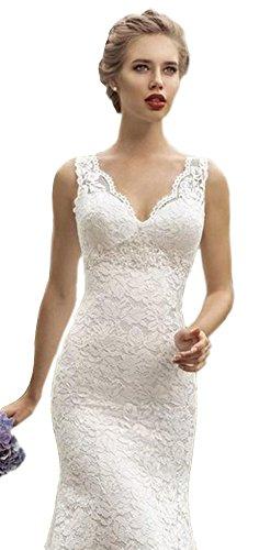 Ikerenwedding - Vestido - para mujer blanco