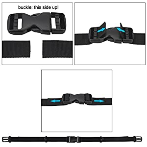 "Backpack Chest Strap, Wisdompro 3/4"" Webbing Backpack Sternum Strap Chest Belt with Quick Release Buckle (Compatible with 1"" Webbing Shoulder Strap)"