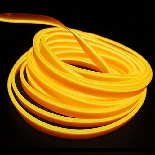 5M USB Neon EL Draht Glühender Elektrolumineszenzdraht für Valentine Christmas Festival Party Licht Dekoration(Gelb)