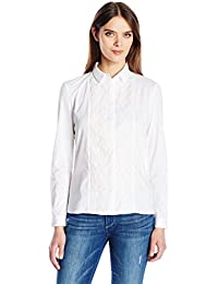 Women's Hennessy Cotton Button Down Top