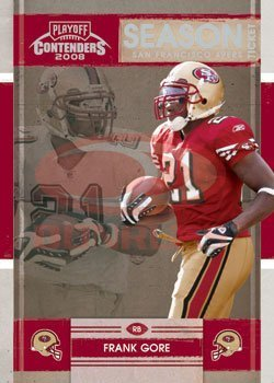2008 Playoff Contenders Season Tickets Football Card # 84 Frank Gore - San Francisco 49ers - NFL Trading Card