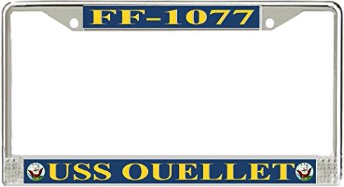 USS Ouellet FF-1077 License Plate Frame -  MilitaryBest, LSFFF-1077