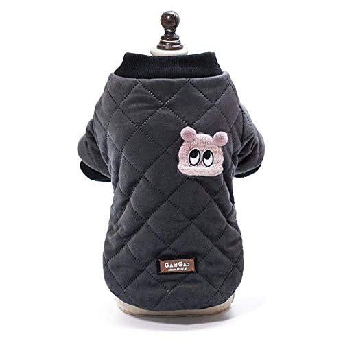 RSHSJCZZY Pet Dog Keep Warm Coats Windproof Cold Weather Jackets Small Medium Large Dog Clothes ()