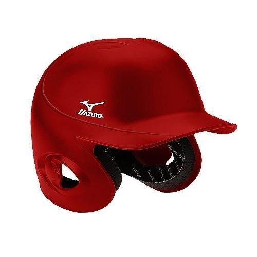 Mizuno MBH100 Classic Batters Helmet (Red, 6 3/4-7-Inch) by Mizuno