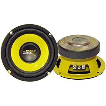 "Car Mid Bass Speaker System Pro 5/"" 200 Watt 4 Ohm Auto Component Poly Woofer Aud"