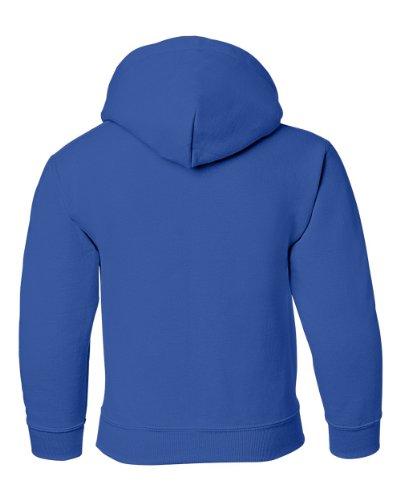 Gildan boys Heavy Blend Hooded Sweatshirt(G185B)-ROYAL-M