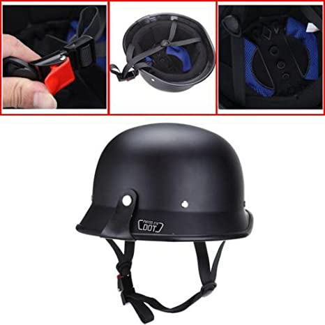 GERMAN MOTORCYCLE HELMET ABS SHELL HALF FACE
