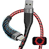 iPhone Charger, iCrius [Apple MFi Certified] 6Ft Led Light Up Lightning Cable USB Fast Charger Syncing Cord Compatible…