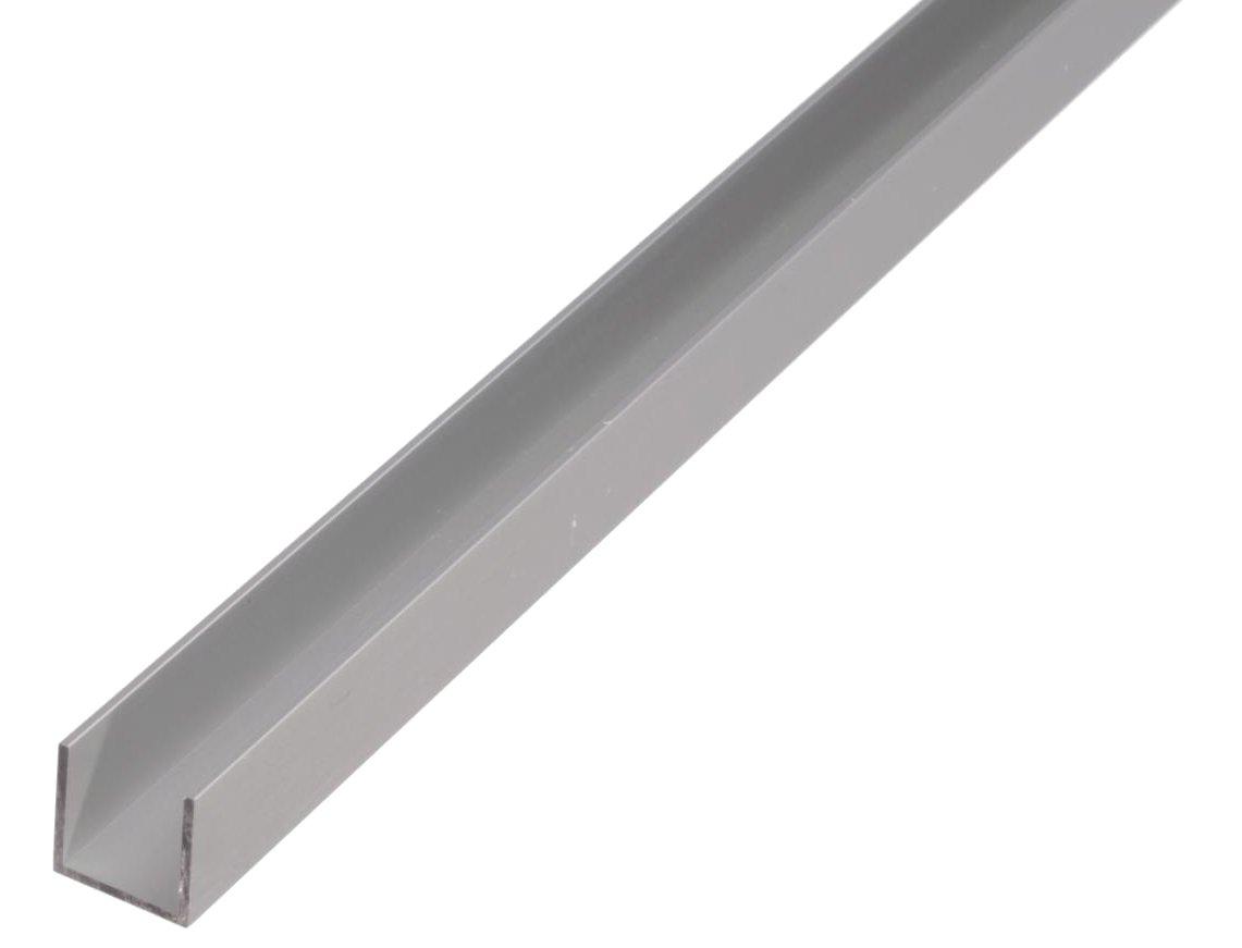 1000 x 8 x 8 mm GAH Alberts 475659 Profil/é En U Aluminium