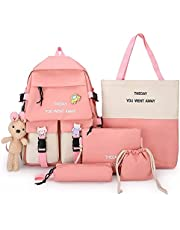 4 Pcs/Set School Student Waterproof Backpack Bag
