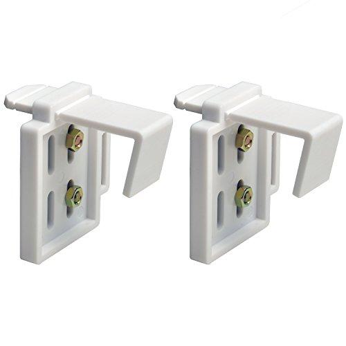 Easy Fit Klemmträger für Lamellenvorhänge und Plissees von Sol Royal - Einfache und schnelle Montage ohne Bohren
