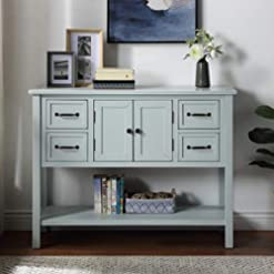 Farmhouse Buffet Sideboards P PURLOVE Console Table Buffet Table Wood Buffet Cabinet with Drawer and Bottom Shelf, Sideboard Table for Living Room… farmhouse buffet sideboards