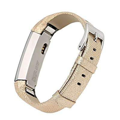 bayite Leather band for Fitbit Alta Replacement Bands Available in Black, Blush, Gold, Silver, Brown