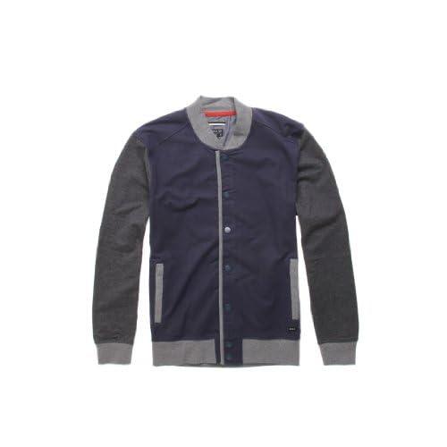 cf78f5a326 new RVCA Hatcher Fleece Navy Gray Men s Fleece Sweatshirt ...