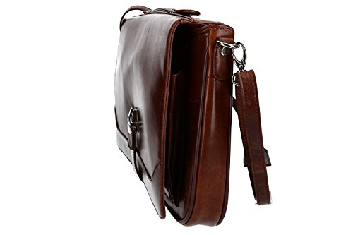 ufficio portadocumenti pelle VH99 Cartella professionale borsa ORNA 916 marrone nqx7BwwUg