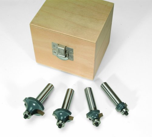 (MLCS 8384 Round Over-Beading Router Bit 4-Piece Boxed Set )
