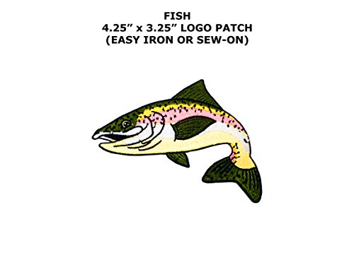 [Rainbow Trout Fish Cut Out Embroidered Iron/Sew-on Comics Cartoon Theme Logo Patch/Applique] (Rainbow Fish Book Costume)