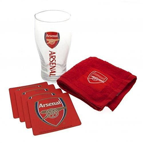 Geschenkideen-Motiv Arsenal FC Mini-Bar-Set-ein tolles Geschenk für Fußballfans by Football Gifts - Arsenal FC
